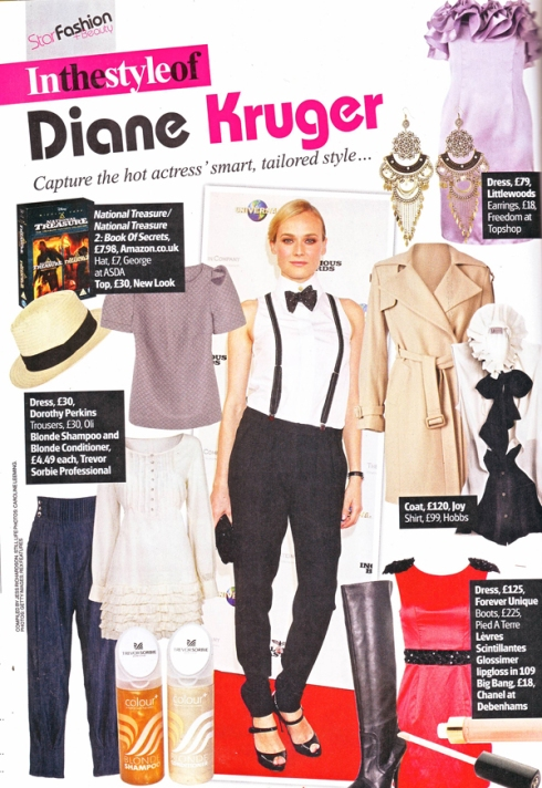 Star Magazine - In the style of Diane Kruger